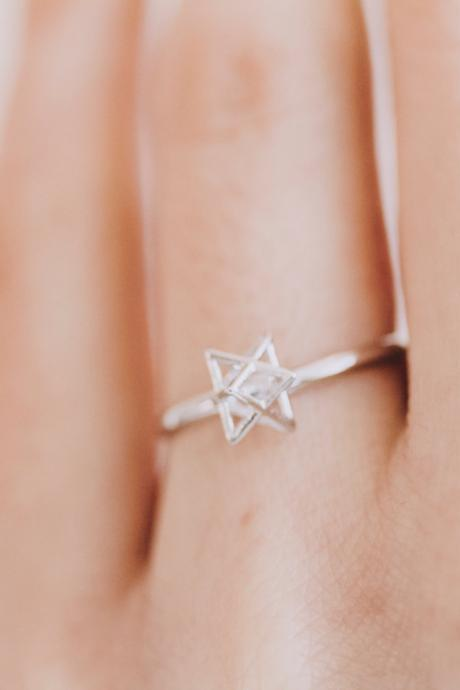 knot star ring/unique ring/adjustable ring/knuckle ring/stretch ring/men ring/cool ring/couple ring/mens ring/knot ring,R154N