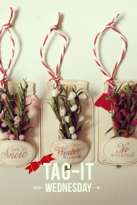 Christmas flower jar tags 2