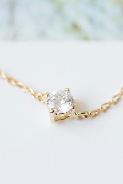 crystal solitaire necklace,beautiful necklaces,jewelry necklaces womens necklaces,necklace for girlfriend,anniversary necklace,N079K