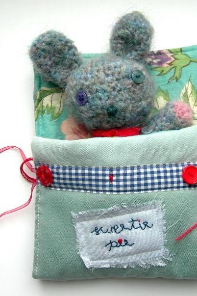 Crochet Amigurumi Rabbit Doll in a Cosy Sleeping Bag