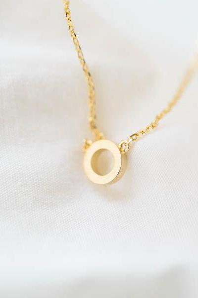 Tiny circle necklace,Modern Minimalist Jewelry,minimalist necklace,bridesmaid gift,bridesmaid necklace,bridesmaid jewelry,N043K