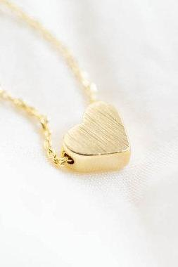 cute heart necklace,bridesmaid necklace,bridesmaid gift,wedding gift,bridesmaid jewelry,tiny heart necklace,N064K