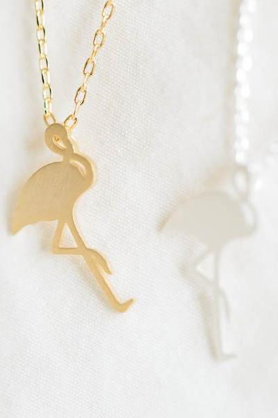 flamingo necklace,animal necklace,Flamingo Pendant,Everyday Necklace,Gift for Her,Graduation, Bridesmaid Gift,Christmas Gift,N137K
