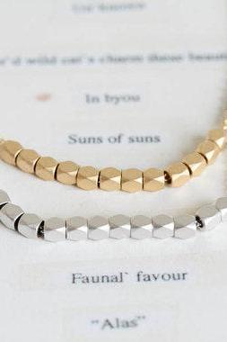 teeth shaped bead necklace,necklace,necklace for girlfriend, mom necklace,beautiful necklace,rose gold necklace,jewelry necklace,N036K
