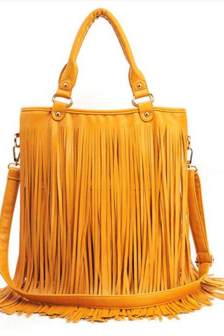 New Fashion Tassel Messenger&Shoulder Bag