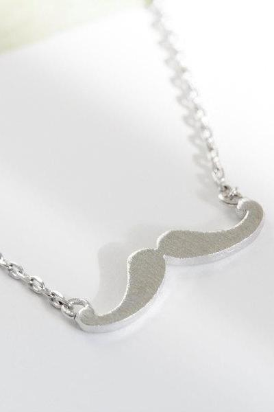 cute mustache necklaces,fashion necklace,trendy necklaces,necklace for girlfriend,mustache charm necklace,unique necklaces,N082K