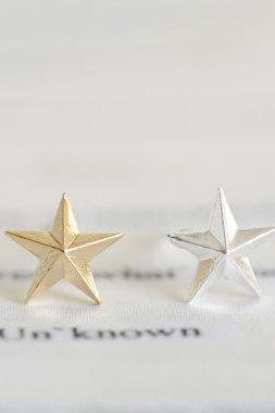 solid star earrings/star stud earrings/stylish earrings/men earrings/women earrings/earrings for men/silver earrings/girl earrings,EO79R