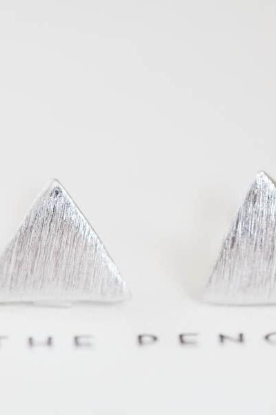 inca triangle stud earrings/silver earrings/earrings silver/earrings for men/earrings men/teens earrings/earrings studs,E022R