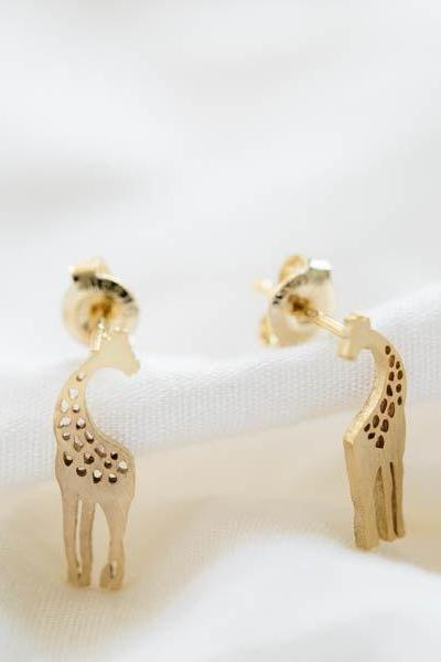 cute giraffe earrings,Jewelry,Earrings,Studs,giraffe earrings,gold giraffe post,animal earring,silver giraffe studs,gold giraffe studs,E093R