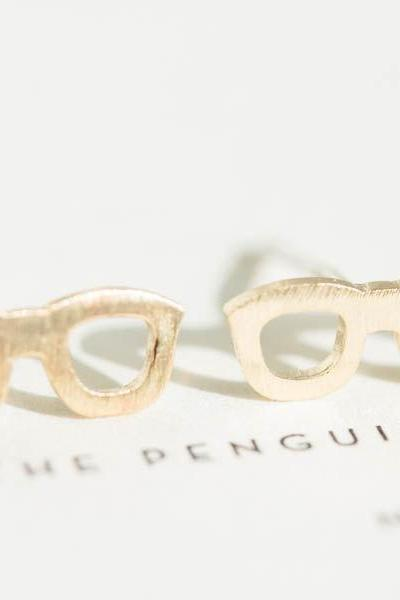 glasses earrings,stud earrings,earrings for men,men earrings,teens earrings,earrings studs,men stud earrings,spectacles earrings,E061R