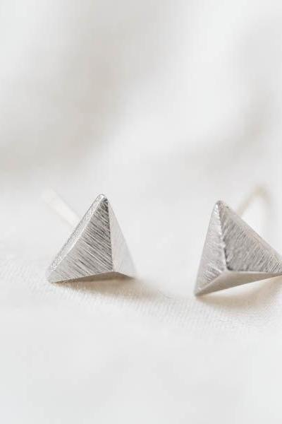 Triangle stud earring,Jewelry,Earrings,Studs Post,jewelry,earring,studs,triangle stud,triangle earring,triangle jewelry,men earrings,E101R