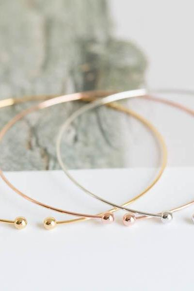 double ball cuff bracelets,bangle,bangle bracelet,mother bracelet,rose gold bracelets,jewelry bracelets,B011R