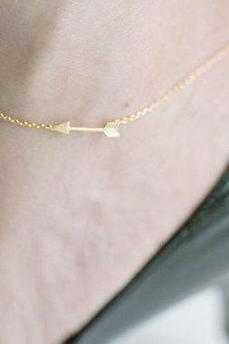 Arrow Chain Anklet in Silver, Gold, or Rose Gold, Jewelry