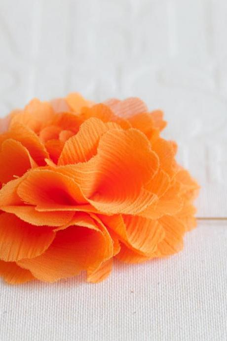 70mm Orange Chiffon Men's Flower Boutonniere / Buttonhole For Wedding,Lapel Pin,Tie Pin
