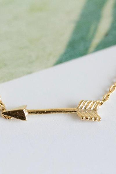 mini arrow necklace,necklace for girlfriend,charm necklace,unique necklace,trendy necklace,pendant necklace,pretty necklace,N017K