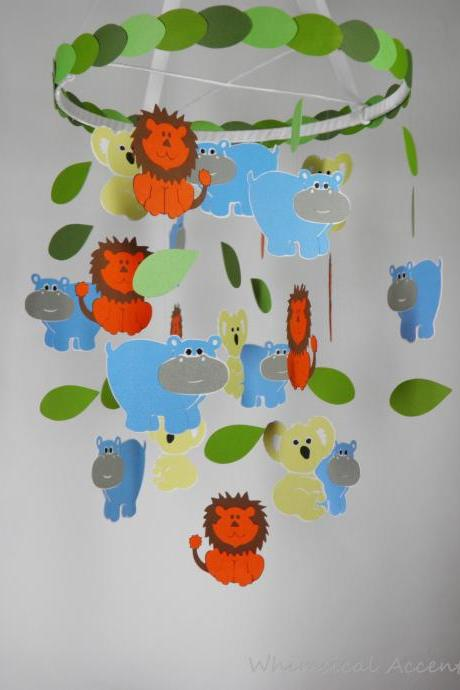 Koala, Lion and Hippo Nursery Decorative Mobile