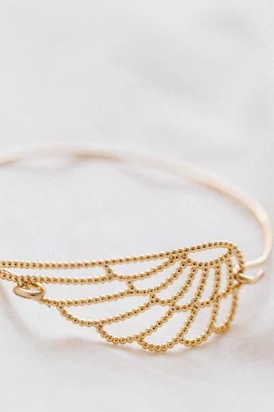 angel wing bangle bracelet ,Jewelry ,Bracelet,angel,wing bracelet,feather bracelet ,wing bracelet,angel wing ,faith bracelet ,B401R