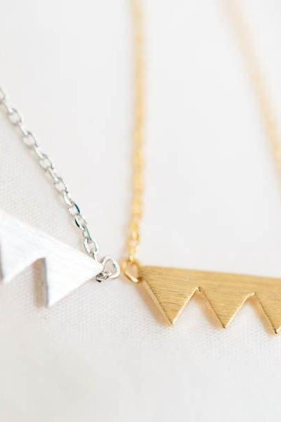 mountain triangle necklace,necklace for girlfriend,charm necklace,triangle necklace,trendy necklace,pendant necklace,pretty necklace,N603K