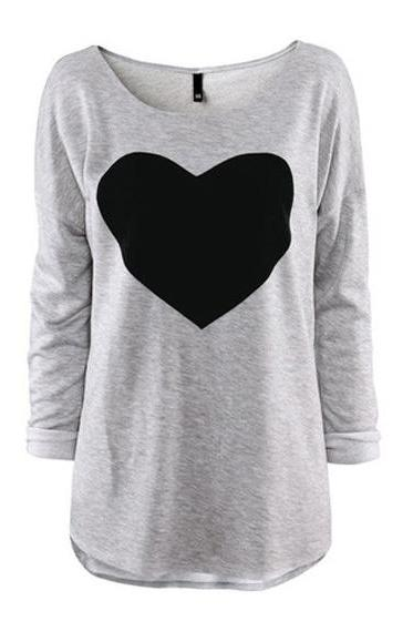 *free ship* Sweet heart print t-shirt