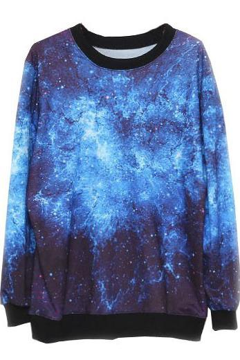 *free ship* Galaxy Print Sweatshirt