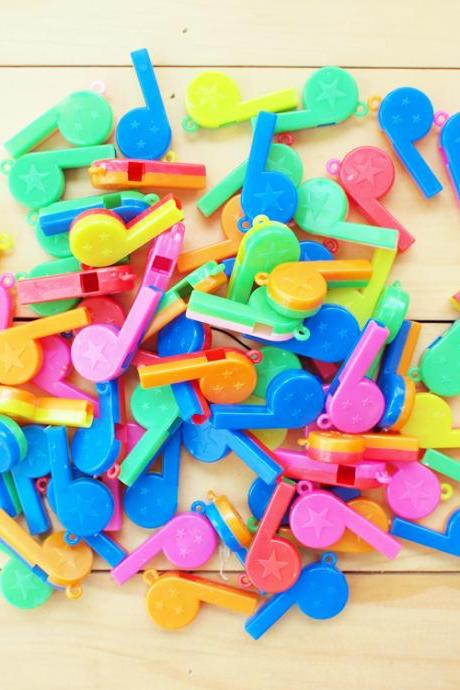 Colorful Plastic Whistles, Mix color