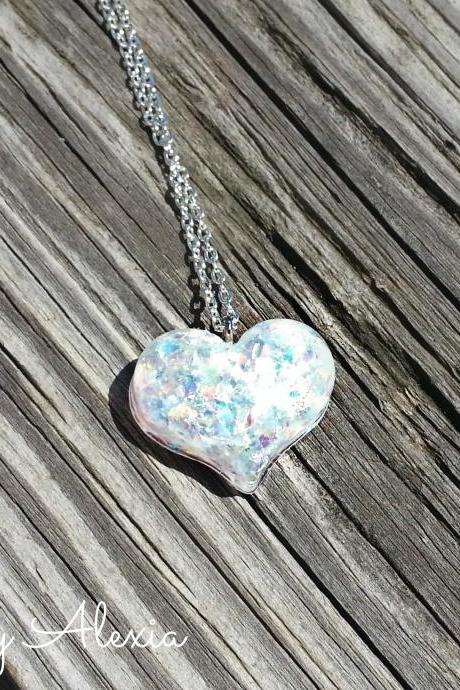 Sparkle Mini Heart Necklace