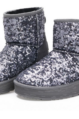 e11fd1a90585 Paillette Glitter Flashing Female Snow Boots Winter Platform Thermal Cotton-Padded  boots