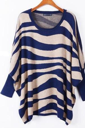 *free ship* color block stripe sweater
