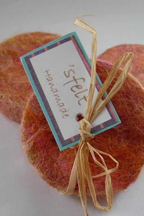 Felted Soap Pack of Three, Scented Soap, Wool Soap, Pack of Three