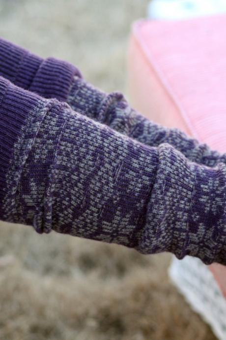 Wool Legwarmers - Boho,Christmas, purple socks, snowflake, Polka dot, blue , Socks,Gift, winter socks, leg warmers with lace.