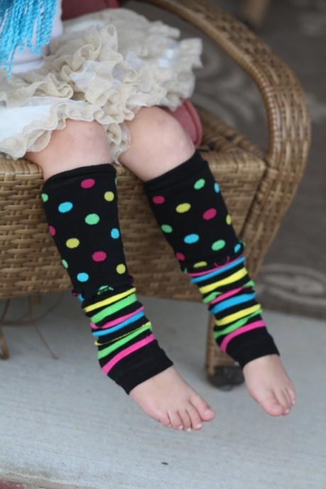 Kids leg warmers- Girls Boot Cuffs, Rainbow Socks, Colorful legwarmers, Strips, Boho