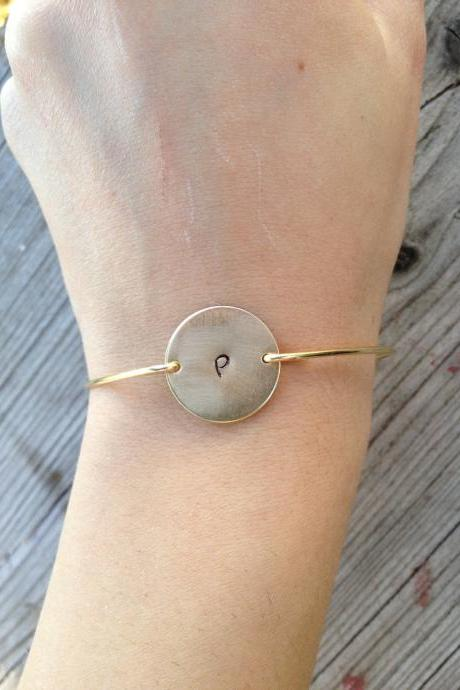 Simply Gold Circle Bangle Bracelet