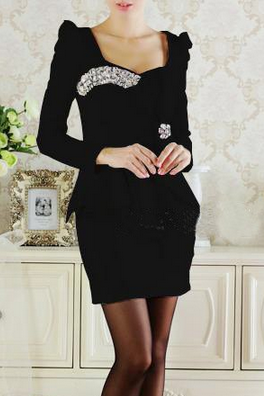 High Quality White Black With Bowknot Rhinestone Tight Dress Party Dresses Mini Sexy Dress Hot Sale