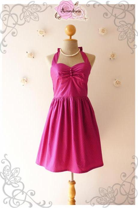 Purple Dress Vintage Style Dress Handmade Vintage Inspired Party Dress Bridesmaid Dress Rockabilly -Size XS, S, M, L, XL-