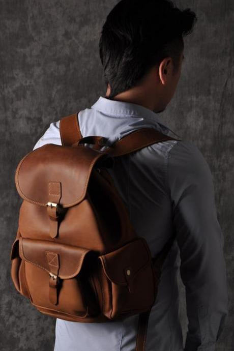 Genuine Leather backpack-Briefcase-Messenger -Leather Laptop-men package--T038