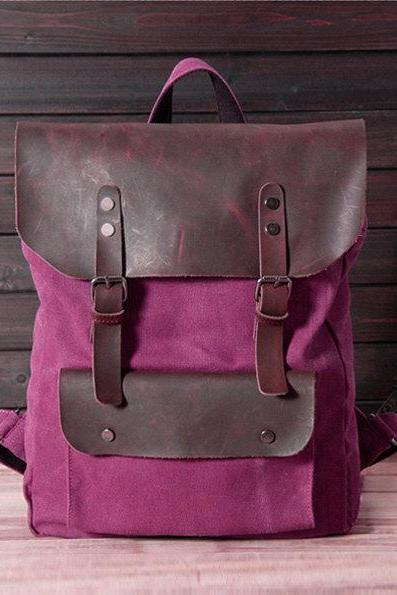 New backpack in Rose / Briefcase / Backpack / Messenger / Laptop / Men's Bag / Women's bag / travel bag / handbag / shoulder bag--T015