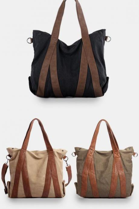 Large Canvas tote bags / women bag / Briefcase / Laptop / Women's bag / travel bag-Q8