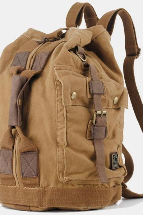 Canvas Bucket Bag / Backpack / canvas Bag / canvas Briefcase / Messenger bag / Laptop bag / school bag-Q5