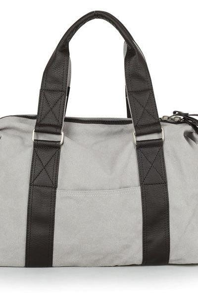 New Men backpack in Gray / Briefcase / Backpack / Messenger / Laptop / Men's Bag / Women's bag / travel bag / handbag / shoulder bag--T039