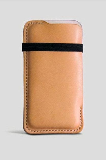 Genuine Leather iphone5c/s case-Wallet-leather case-Leather iPhone Sleeve-Phone Case / For He / For Her--T68