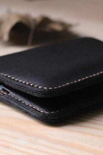 Handmade Genuine Leather Wallet / Leather Wallet / mens wallet / leather case / mens gift / For He-T48