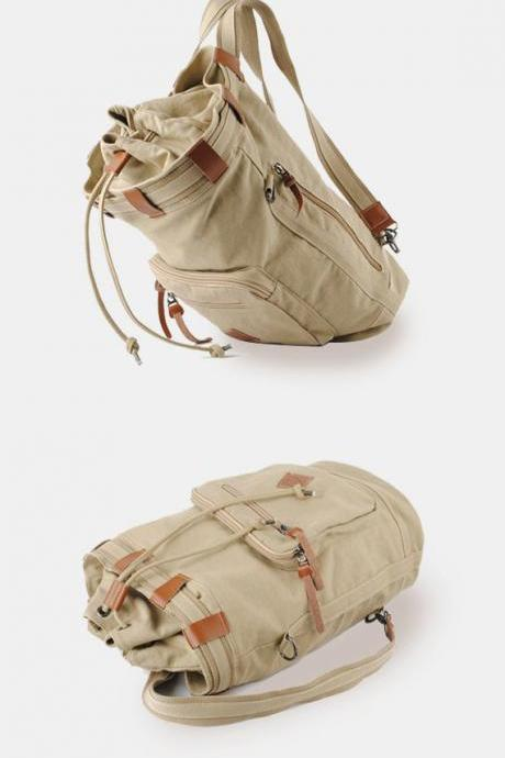 Canvas backpack / Briefcase / school bag / Laptop / large Bag / travel bag / shoulder bag--Q7