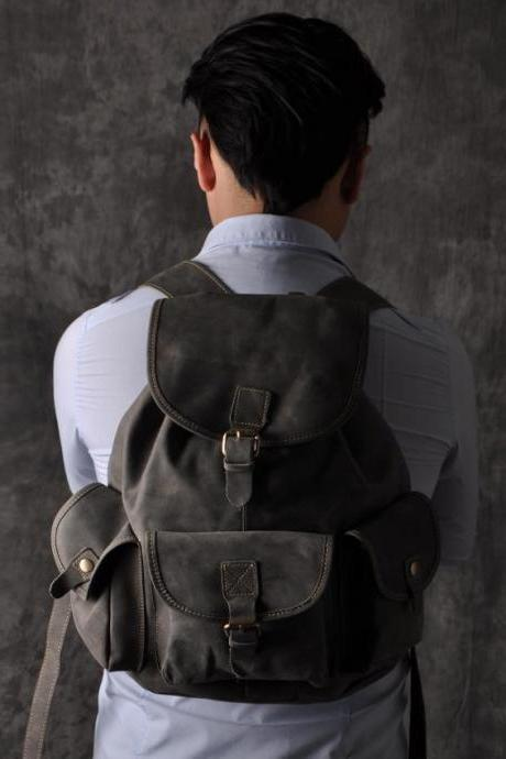 Strong Leather backpack / Briefcase / Messenger / Laptop / Men's Bag / leather bag / travel bag / shoulder bag