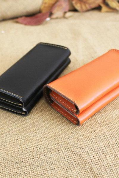 Genuine Leather Wallet / women wallet / leather wallet / leather case / Phone wallet / iphone Wallet / men case / leather case/ gift