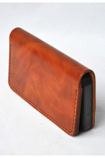 Handmade Genuine Leather iPhone case / iphone wallet / Hand bag / wallet / iphone case / For He / Gift—T88
