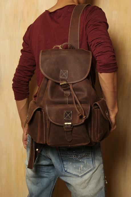 Leather backpack / Bag / Briefcase / Backpack / Messenger / Laptop / Men's Bag