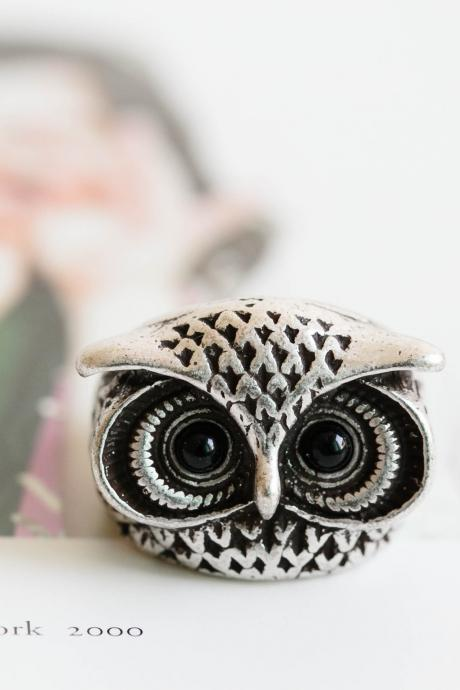 vintage lucky owl ring,Jewelry,Ring,gift ring,animal ring,owl ring,silver owl,owl jewelry,wise owl,owl lover,baby owl ring,vintage owl,R288N