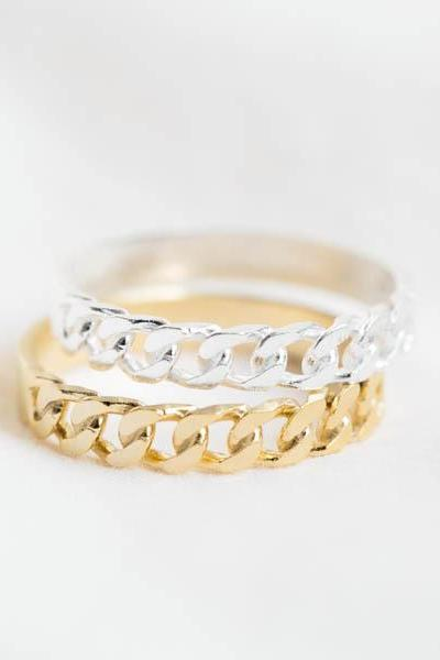 Chain ring,Jewelry,Ring,Chainmaille,stacking ring,stackable ring ,band,silver band,chain band ,punky ring ,simple ring ,R248N