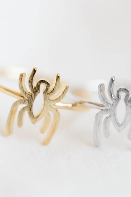 Spider ring,Jewelry,spider jewelry,Web Spider,Amazing,comic,Spider man,superhero,animal ring,Halloween ring,halloween,Silver spider, R287N