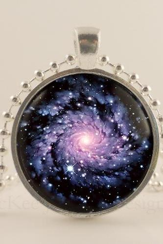 Nebula, Constellation, Planet, Galaxy, 1 inch sterling silver metal pendant tray, glass dome necklace, jewelry, Jewellery. Space. Orbit. Handmade jewelry
